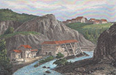 View of Felletin - Limousin (Creuse - France) - Factory - Tapestry - Charles Sallandrouze