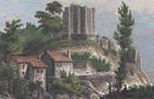 Ruins of Aubusson Castle - Limousin (Creuse - France)