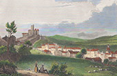 View of Aurillac - Auvergne (Cantal - France)
