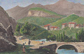 View of Luz-Saint-Sauveur - Midi-Pyr�n�es (Hautes-Pyr�n�es - France) - Napoleon  Bridge