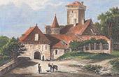 Pesteils Castle in Polminhac - Auvergne (Cantal - France)
