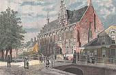 Ansicht von Leeuwarden - Kanzleigericht (Holland - Niederlande)
