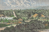 Vy över Sumatra - Telok Betong - Sundaöarna (Indonesien)