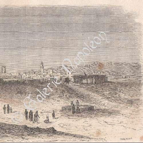 gravures anciennes vue de tunis medjerda promenade de la marine tunisie gravure sur. Black Bedroom Furniture Sets. Home Design Ideas
