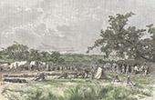 Kolonialkrieg - Militärlager in Arondou (Senegal)