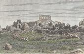 Ansicht von Srir - Ruine (Syrien)