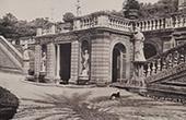 Villa Doria Pamphilj (Rome) - Vue - Terrasse et Salle fraiche sous le Parterre de broderie