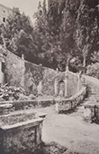 Villa d'Este (Tivoli - Latium) - Escalier en  H�micycle
