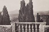 Villa d'Este (Tivoli - Latium) - Terrasse - Cypr�s - Balustrade