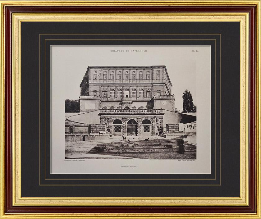 gravures anciennes palais farn se palazzo farnese caprarola rome fa ade principale. Black Bedroom Furniture Sets. Home Design Ideas