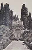 Villa Chigi di Vicobello  (Sienne - Toscane) - Niche dans le jardin