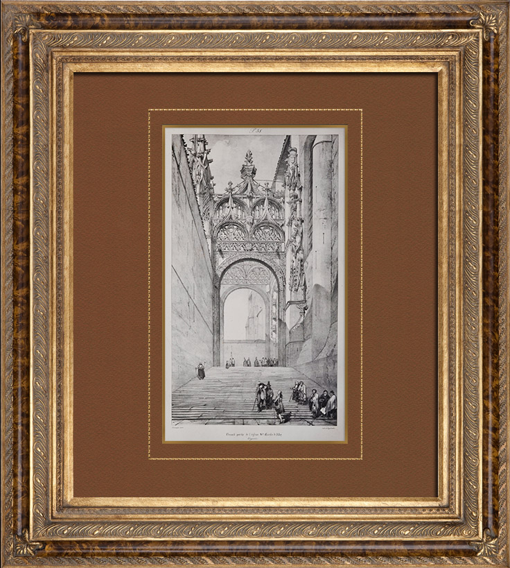 gravures anciennes cath drale sainte c cile d 39 albi midi pyr n es tarn france porte. Black Bedroom Furniture Sets. Home Design Ideas