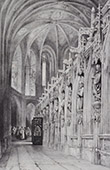 Cathedral of Albi - Midi-Pyr�n�es (Tarn - France) - Statues in the Choir - Outside - Bishops