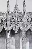 Cathedral of Albi (Tarn - France) - Rood Screen - Details of Jubé