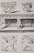 Antique carved wooden furnitures - Details - Mythology (Toulouse)