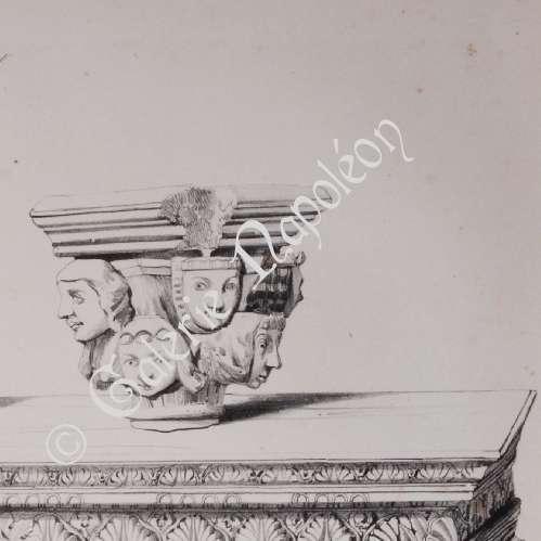 Grabados antiguos litograf a de antiguos muebles en for Mundo mueble aguilas