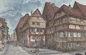 View of Hildesheim (Germany)