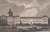 View of Paris - Hospital - Hôpital de la Salpétrière (France)