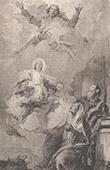 Italienische malerei - Skizze - Vision von Heilige Anna (Giambattista Tiepolo)