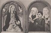Pintura francesa - Virgem Maria e Memino Jes�s - Doa��o (Pintores Primitivos Francesos)