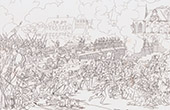 Napoleonic Wars - Battle of Landshut - Crossing the bridge at Landshut (1809)