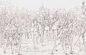 Guerres napoléoniennes - Napoléon Bonaparte harangue les troupes à Augsbourg (1805)