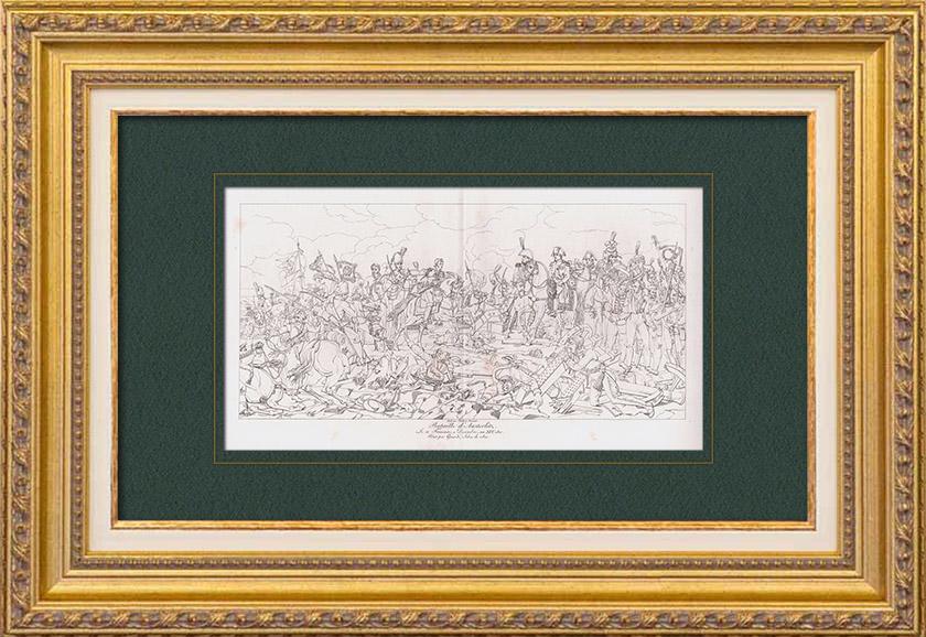Gravures Anciennes Bataille D 39 Austerlitz 2 D Cembre 1805 Guerres Napol Oniennes Napol On
