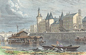 View of Paris - �le de la Cit� - Courthouse - Palais de justice - Conciergerie (Paris - France)