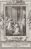 Coronation of Pierre de La Ch�tre Archbishop of Bourges (1141)