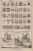 Heraldry - Coat of Arms - Escutcheon - Encyclop�die M�thodique - Diderot's Encyclop�die - Pl.12