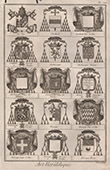 Heraldry - Coat of Arms - Escutcheon - Encyclop�die M�thodique - Diderot's Encyclop�die - Pl.13