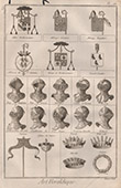 Heraldry - Coat of Arms - Escutcheon - Encyclop�die M�thodique - Diderot's Encyclop�die - Pl.14