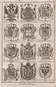 Heraldry - Coat of Arms - Escutcheon - Encyclop�die M�thodique - Diderot's Encyclop�die - Pl.15