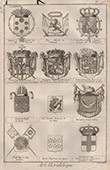 Heraldry - Coat of Arms - Escutcheon - Encyclop�die M�thodique - Diderot's Encyclop�die - Pl.16