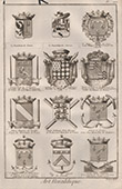 Heraldry - Coat of Arms - Escutcheon - Encyclop�die M�thodique - Diderot's Encyclop�die - Pl.17