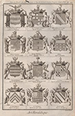 Heraldry - Coat of Arms - Escutcheon - Encyclop�die M�thodique - Diderot's Encyclop�die - Pl.22