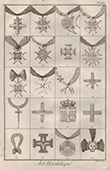 Heraldry - Coat of Arms - Escutcheon - Encyclop�die M�thodique - Diderot's Encyclop�die - Pl.23