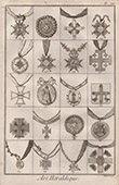 Heraldry - Coat of Arms - Escutcheon - Encyclop�die M�thodique - Diderot's Encyclop�die - Pl.24