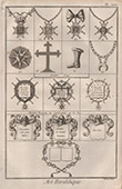 Heraldry - Coat of Arms - Escutcheon - Encyclop�die M�thodique - Diderot's Encyclop�die - Pl.27