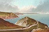 Ansicht von Jersey - Normannischen Inseln - Path to the Devil's Hole