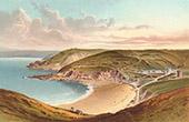 Ansicht von Jersey - Normannischen Inseln - Greve de Lecq