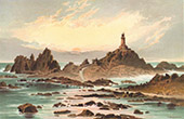 View of Jersey - Channel Islands - The Corbiere Rocks
