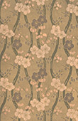 Japanese art - Decoration of cloth - Flowers - 18th Century