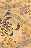 Japanese art - Decoration of cloth - Flowers - 19th Century
