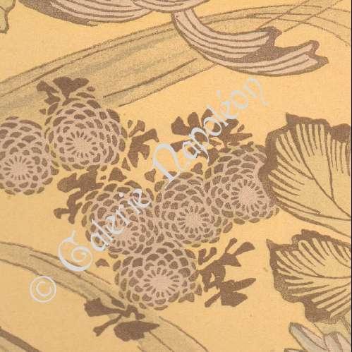 Alte stiche stich von japanische kunst stoff dekoration blumen 19 jahrhundert - Japanische dekoration ...