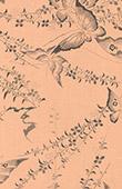 Japansk konst - Teknisk ritning - Fjäril och Blommor
