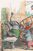 Public and Private Life of Animals - Satirical Tales - Caricature - Revolution - Elephant - Rhinoceros - Monkey - Bull
