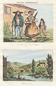 French Regional Costumes - Allier - View of Montlu�on (France)