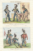 Military Uniform - French Army - 1834 - Cuirassier - Carabinier - Lancer - Hussar