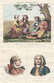 French Regional Costumes - C�tes-du-Nord - Harvesters - Portraits - Charles Pinot Duclos (1704-1772) - La Bourdonnais (1699-1753)